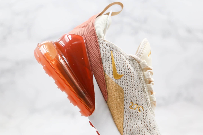 耐克Nike Air Max 270纯原版本半掌气垫Max270米白红色满天星内置真小潘气垫原盒原标 货号:AH6789-203