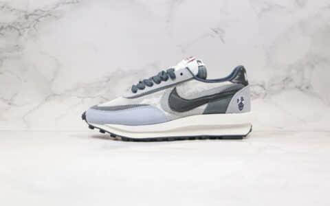 耐克华夫走秀鞋款解构系列白灰色出货