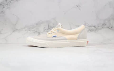 万斯Vans Era OG LX公司级版本反皮毛低帮硫化板鞋奶白灰色原盒配置