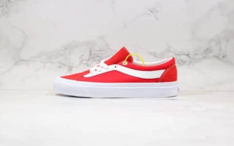 万斯VANS Bold Ni公司级版本吴亦凡同款板鞋小红书爆款帆布鞋红白色工艺硫化一比一 货号:VN0A3WLPULC