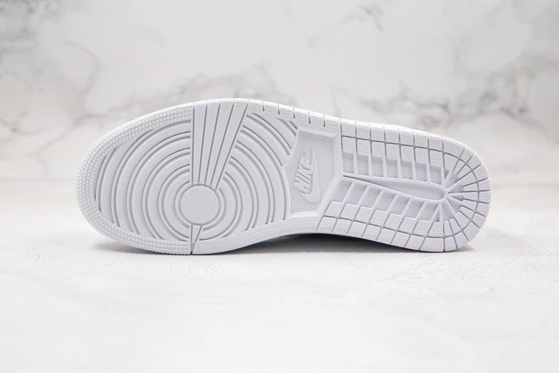 乔丹Air Jordan 1 Low Centre Court纯原版本低帮AJ1白色乔丹本人专属鞋款原盒原标原楦头纸板打造 货号:CK3022-111