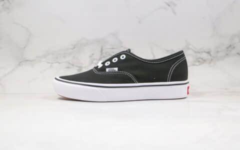 万斯VANS ComfyCush Authentic公司级版本安纳海姆轻量化黑白色硫化板鞋原盒原标 货号:VN0A3WMAVNE