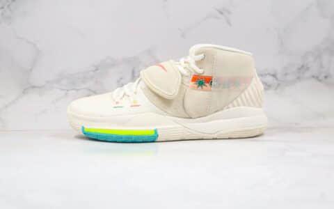 耐克Nike Kyrie 6 N7纯原版本欧文6代米白色涂鸦N7实战篮球鞋内置气垫原档案数据开发 货号:CD5031-101