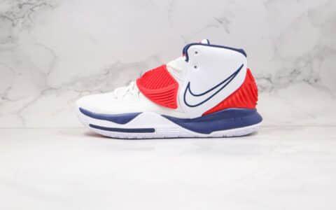 耐克Nike Kyrie 6纯原版本欧文6代白蓝红色篮球鞋内置气垫支持实战 货号:BQ4630-102