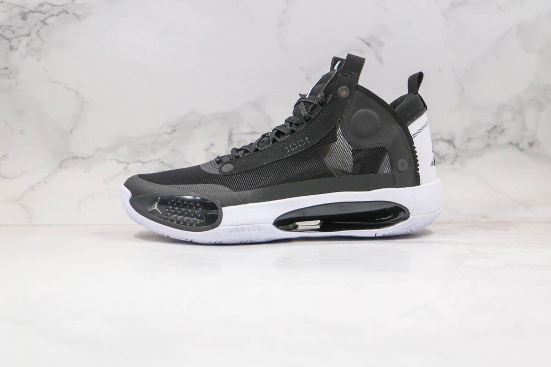 乔丹AIR JORDAN XXXIV PF纯原版本黑白色AJ34实战篮球鞋内置气垫支持实战 货号:BQ3381-001