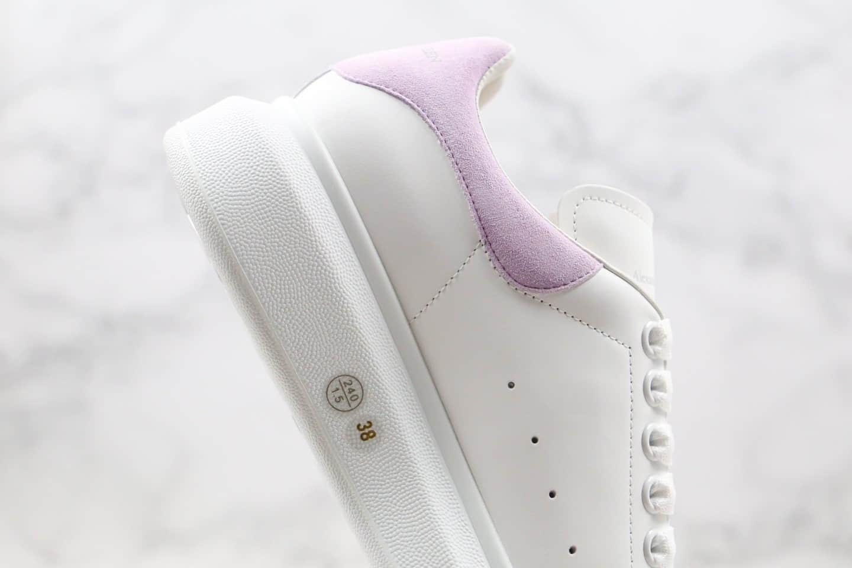 亚历山大Alexander McQueen纯原版本麦昆小白鞋香芋紫麂皮尾内置芯片原盒配件齐全