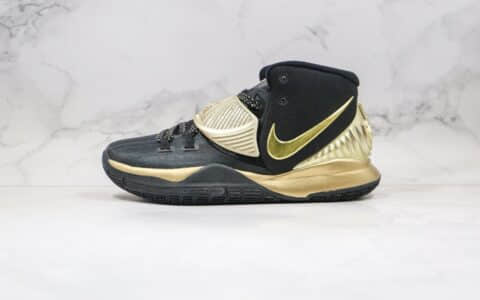 耐克欧文6代实战篮球鞋黑金色出货