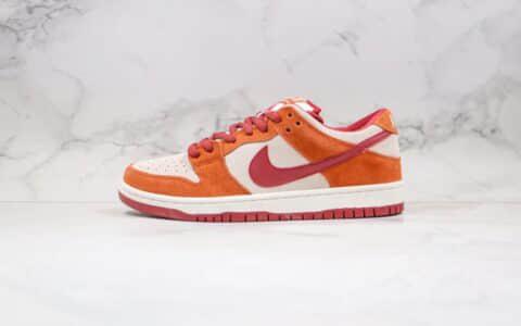耐克Nike SB Dunk Low Orange label纯原版本低帮SB板鞋扣篮系列白红橘色内置Zoom气垫原楦头纸板打造 货号:BQ6817-202