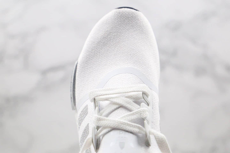阿迪达斯Adidas NMD R1 OK W Primeknit Triple Black纯原版本爆米花NMD跑鞋细闪白银色原盒原标 货号:FY9668