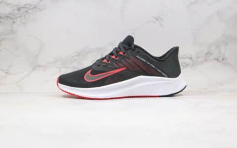 耐克Nike Quest 3纯原版本极速三代黑红色慢跑鞋原楦头纸板打造 货号:CD0230-004