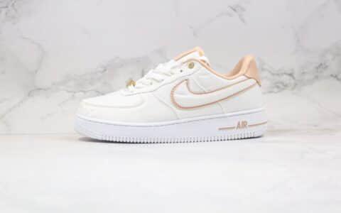 耐克Nike Air Force 1 Low Pastel White纯原版本低帮空军一号白卡其色丝绸球形印花板鞋原楦头纸板打造 货号:898889-102