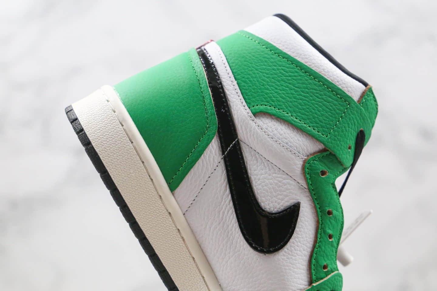 乔丹Air Jordan 1 High OG WMNS Lucky Green纯原版本高帮AJ1凯尔特人白绿色篮球鞋正确后跟定型 货号:DB4612-300