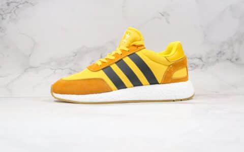 阿迪达斯Adidas Boost Three Stripes L-5923纯原版本三叶草爆米花跑鞋黑黄色原鞋开模一比一打造 货号:BD7612