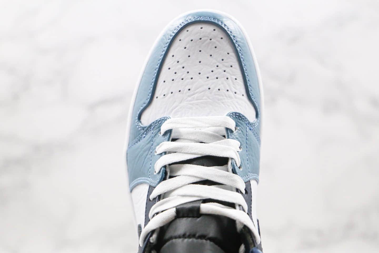 乔丹Air Jordan 1 Mid Fearless x Facetasm纯原版本联名款中帮AJ1蓝色原楦头纸板打造原盒原标 货号:CU2802-100