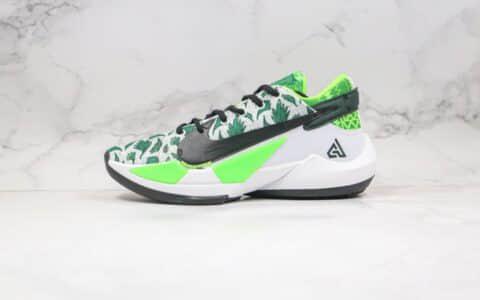 耐克Nike Zoom Freak 2纯原版本字母哥二代篮球鞋黑绿色支持实战原盒原标 货号:DA0907-002