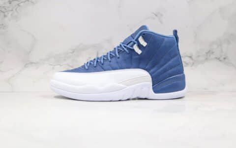 乔丹Air Jordan 12 Indigo纯原版本靛青蓝白色AJ12篮球鞋支持实战 货号:130690-404