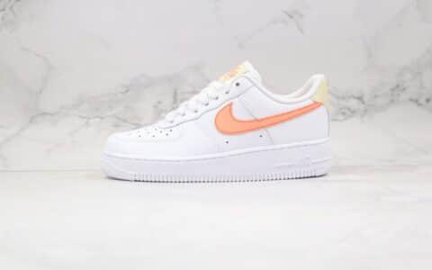 耐克Nike Air Force 1 'O7 White Atomic Pink纯原版本低帮空军一号蜜桃白橙色板鞋内置全掌Sole气垫 货号:315115-157