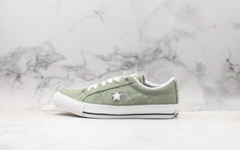 匡威Converse onestar Pro OX JA公司级版本低帮木村一星鞋面撕裂款绿色斑马原楦头纸板打造 货号:165337C