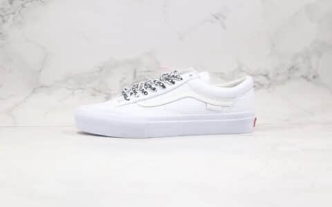 万斯Vans Style 36 Pro PEACE公司级版本低帮皮面半月包头字母印花鞋带白色板鞋原厂硫化大底 货号:VN0A4U3F03S
