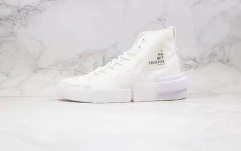 匡威Converse x thesoloist宫下贵裕联名款公司级版本机能解构高帮白色字母帆布鞋原盒原标 货号:168214C