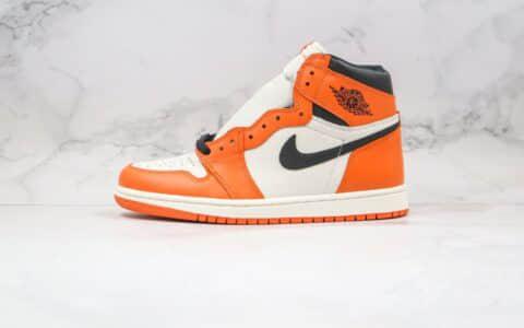 乔丹Air Jordan 1 Pine Green纯原版本高帮AJ1白橙扣碎篮球鞋原厂正确后跟定型 货号:555088-113