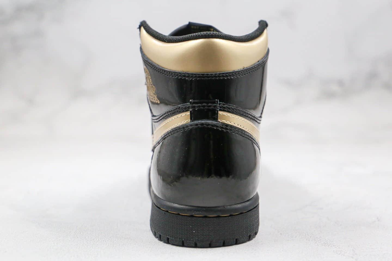 乔丹Air Jordan 1 High OG Black Metallic Gold纯原版本高帮AJ1黑金配色篮球鞋正确后跟定型原盒原标 货号:555088-032