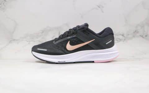 耐克Nike Zoom Structure 23纯原版本登月23代黑金色慢跑鞋内置ZOOM气垫原盒原标 货号:CZ6721-005