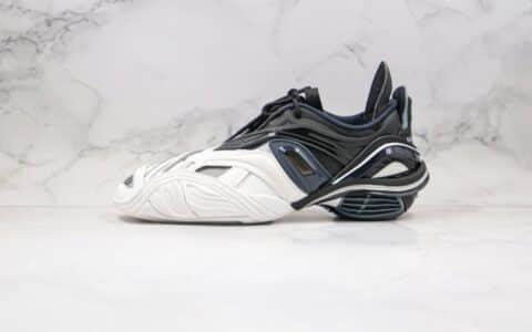 巴黎世家Balenciaga tyrex Sneaker Bicol Or Rubber Mesh Not Wash Black纯原版本复古老爹鞋五代白黑灰色原档案数据开发