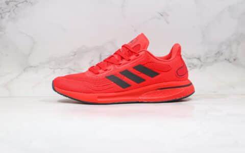 阿迪达斯adidas Supernova M纯原版本爆米花缓震跑鞋红黑色原鞋开模一比一打造 货号:FV6032