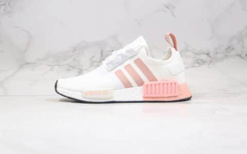 阿迪达斯Adidas NMD R1 OK W Primeknit Triple Black纯原版本爆米花跑鞋NMD白粉色原盒原标 货号:FV2475