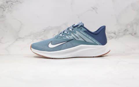 耐克Nike Quest 3纯原版本极速三代蓝色慢跑鞋区别市面通货版本 货号:CD0230-008