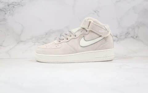 耐克Nike Air Force 1 Mid 07纯原版本中帮空军一号3M反光浅灰色板鞋内置全掌Sole气垫 货号:315121-048
