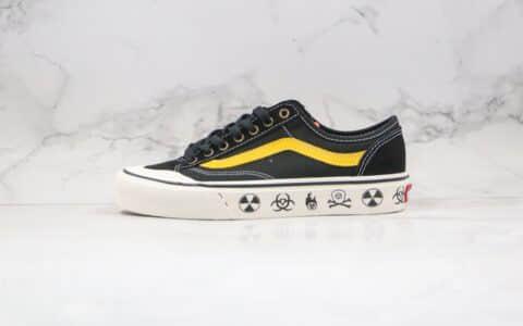 万斯Vans Style 36 Decon SF公司级版本低帮生化涂鸦黑金色半月包头骷髅硫化板鞋原盒原标