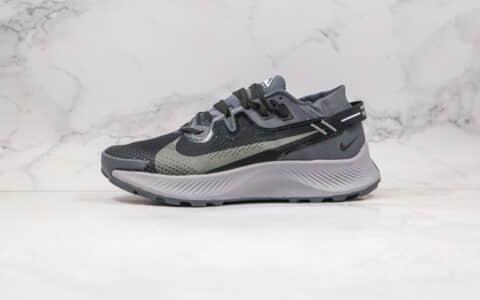 耐克Nike Zoom Pegasus Trall 2纯原版本登月2代马拉松越野跑鞋黑灰色内置ZOOM气垫原盒原标 货号:CK4309-002