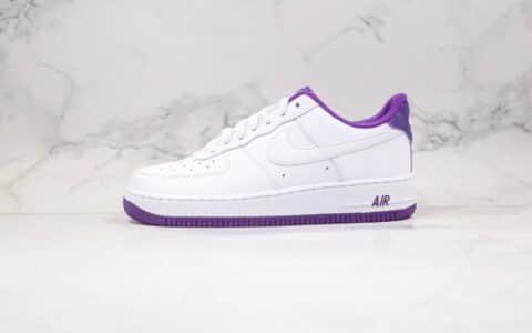 耐克Nike Air Force1 Low White purple纯原版本低帮空军一号电光暗紫色板鞋内置气垫原盒原标 货号:CJ1380-100