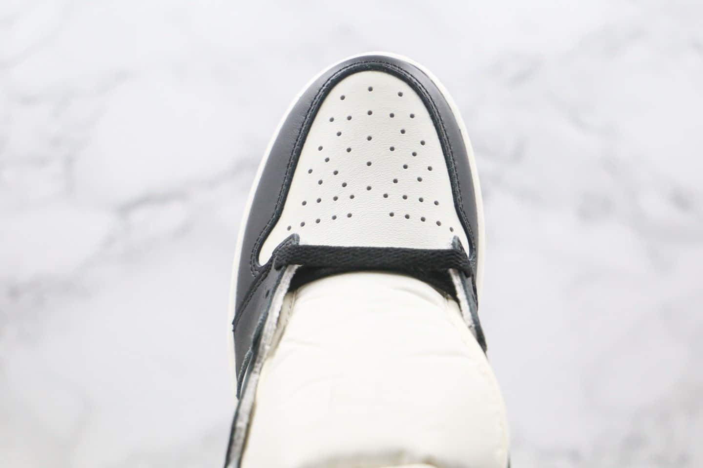乔丹Air Jordan 1 High OG Dark Mocha纯原版本高帮AJ1小倒钩黑棕色原档案数据开发正确后跟定型 货号:555088-105