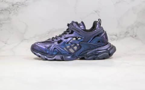 巴黎世家Balenciaga Track 4.0纯原版本复古老爹鞋四代电光蓝紫色原盒配件齐全