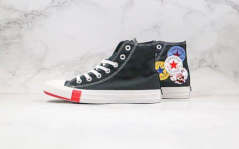 匡威Converse Chuck 1970s公司级版本高帮四标LOGO印花涂鸦拼色帆布鞋原鞋开模一比一打造 货号:166736C