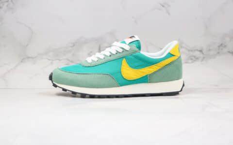耐克Nike Wmns Air Daybreak纯原版本网纱透气破晓系列刺绣彩勾华夫慢跑鞋黄绿色原盒原标 货号:DA0824-300