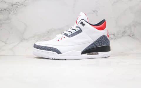 乔丹Air Jordan 3 SE DNM Fire Red纯原版本牛仔拼接白黑红色拼色AJ3篮球鞋原盒原标 货号:CZ6431-100