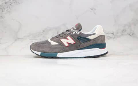 新百伦New Balance 998纯原版本灰红色NB998复古慢跑鞋原档案数据开发原盒原标 货号:M998CRA