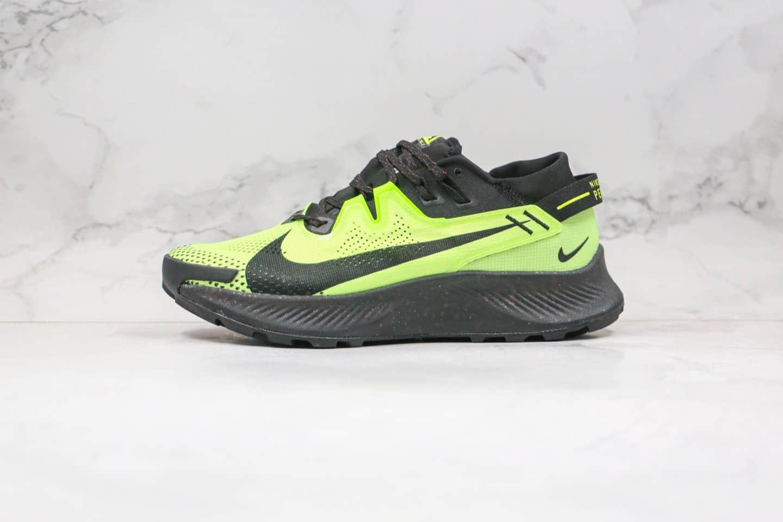 耐克Nike Zoom Pegasus Trall 2纯原版本登月系列飞马2代越野跑鞋黑绿色原楦头纸板打造 货号:CK4305-003