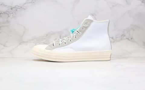 匡威CONVERSE x OFFSPRING公司级版本藤原浩闪电联名款高帮皮面破口白灰色板鞋原盒原标原鞋开模一比一打造 货号:169054C