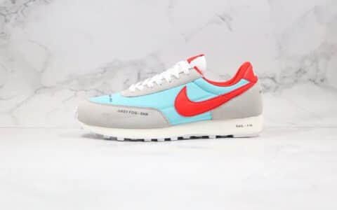 耐克Nike Wmns Air Daybreak纯原版本华夫慢跑鞋刺绣彩勾灰红蓝色原盒原标区别市面通货版本 货号:CZ8699-460