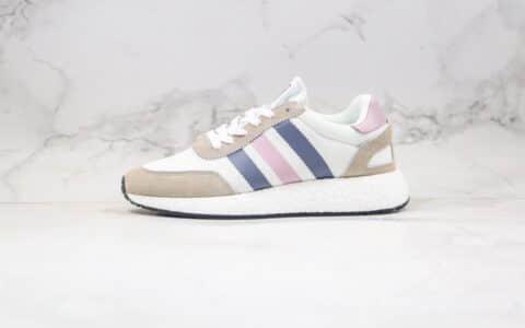 阿迪达斯Adidas Boost L-5923纯原版本三叶草爆米花跑鞋灰蓝粉色原厂巴斯夫缓震大底 货号:CG6040