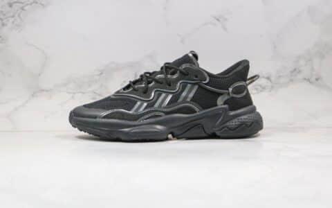 阿迪达斯Adidas OZWEEGO 2020纯原版本水管老爹鞋炫彩黑色原盒原标区别市面通货版本 货号:FV9653