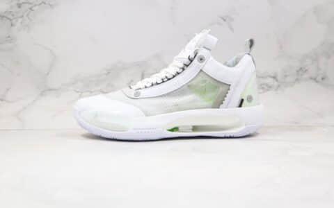 乔丹Air Jordan XXXIV Low纯原版本白绿色AJ34轻量化篮球鞋内置Zoom气垫支持实战 货号:CU3475-100