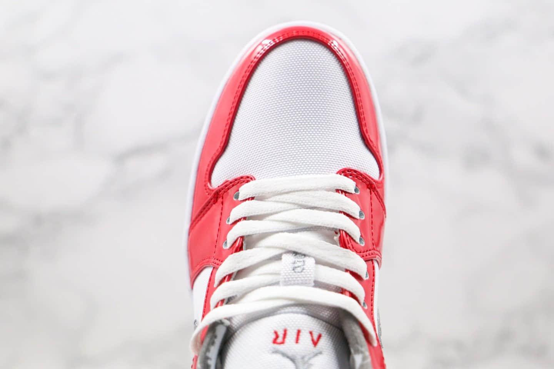乔丹Air Jordan 1 Low纯原版本低帮AJ1白红灰漆皮配色内置气垫原楦头纸板打造 货号:309192-171