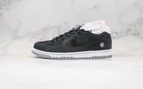 """耐克Medicom Toy x Nike SB Dunk Low""""BE@RBRICK""""公司级版本积木熊联名王一博同款SB板鞋黑白马毛原鞋开发 货号:CZ5127-001"""