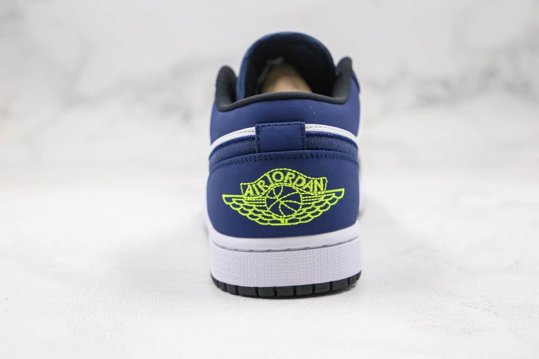 乔丹Air Jordan 1 Low纯原版本低帮AJ1蓝白色帆布勾篮球鞋内置气垫原盒原标 货号:553558-405